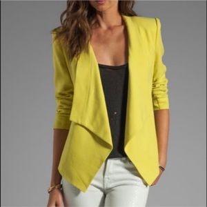 BCBG Abree Open Blazer Knit Ponte Neon Jacket